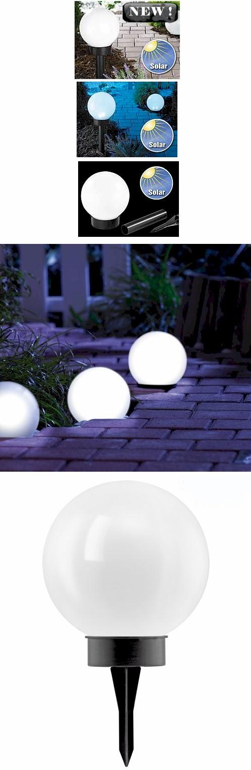 LAMPADA SFERA DA GIARDINO LUCE A LED AD ENERGIA SOLARE PALLA DECORATIVA DA 20 CM